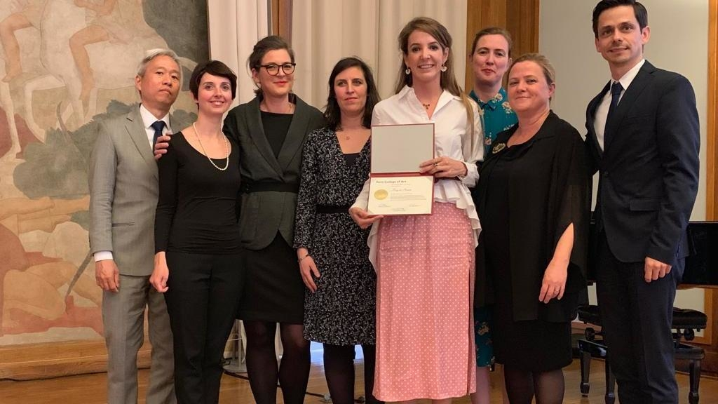 Tessy de Nassau awarded honorary doctorate from Paris College of Art